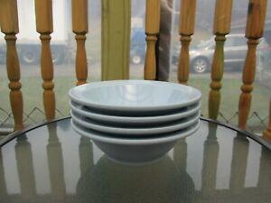 Lot of 4 Vintage Pastel Blue Boonton Ware Melmac Cereal Soup Bowls