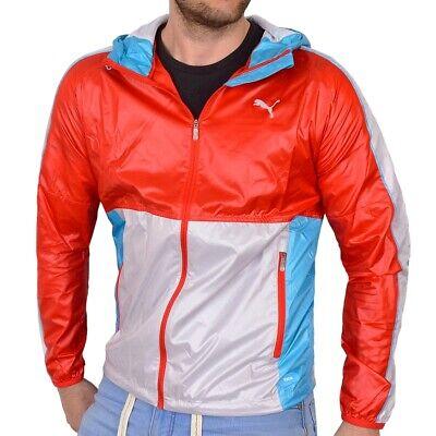 Puma Faas Windbreaker Uomo Giacca Vento Corsa Giacca Men Jacket Hoody Rosso/grigio/blu-mostra Il Titolo Originale