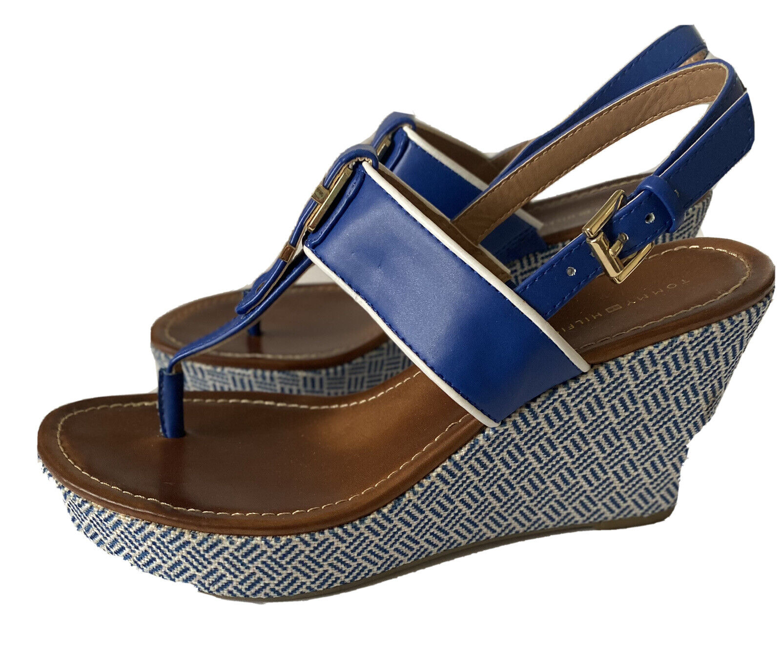 Tommy Hilfiger Women's Size 7.5 M Wedges Navy, - image 7