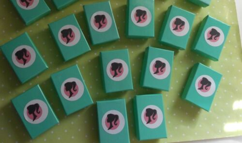 "BARBIE SILHOUETTE TEAL SHOE BOXES LOT OF 12-1 7//8/"" x 1 1//4/"" x 5//8/"""