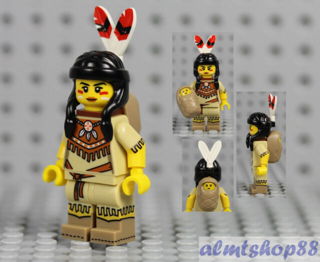 LEGO Series 15 Tribal Woman Minifigure Native American Baby 71011 Collectible