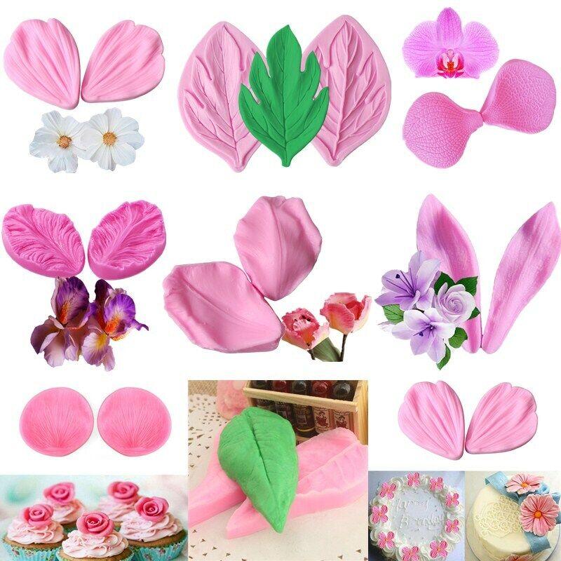 Decorating Cake Decoration 3D Flowers Fondant Tools Soap Petal Silicone Mold YS