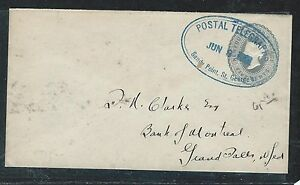 NEWFOUNDLAND (P2906B)QV 5C PS CANCEL POSTAL TELEGRAPHS SANDY POINT TO GRAND FAL