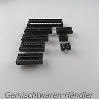 IC Sockel Sortiment Halter Fassung DIL DIP pol 6 8 14 16 18 20 24 28 40 RM 2,54