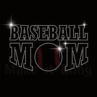 Baseball Mom Rhinestone Iron On Heat Transfer Sport Mom For Shirt Or Jersey