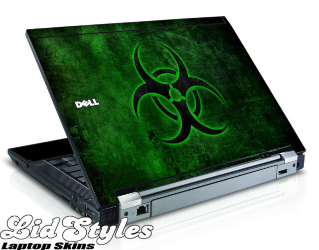 LidStyles GREEN BIOHAZARD Vinyl Laptop Skin Decal fits Dell Latitude E4300