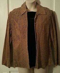 NWT Chico's women's genuine leather circle jacket retail $278 coat blazer