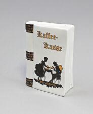 Porzellan Spardose in Buchform Kaffeekasse Scherenschnitt Kämmer 10x15cm 9988345