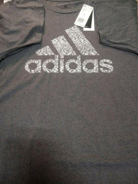 New Adidas Men's Gray Crew Neck Short Sleeve Go-To Tee XL