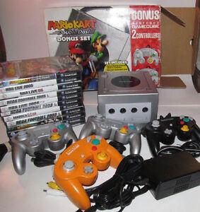 Platinum-Nintendo-GameCube-Mario-Kart-Console-11-Game-Bundle-System-Complete-CIB
