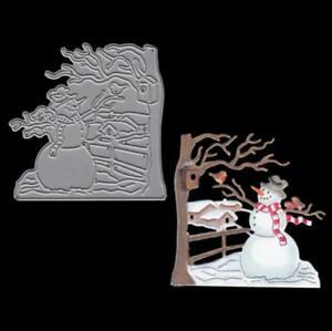 Muneco-de-Nieve-Navidad-muere-Metal-Corte-muere-Scrapbooking-llegadas-dado-corta-Craft
