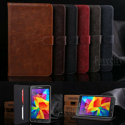Luxury Folio Leather Stand Set Case Cover For Samsung Galaxy Tab 4 8.0 SM T330