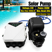 24v 280w Solar Water Pump Deep Well Solar Submersible Pump Head 30m 2mh Usa