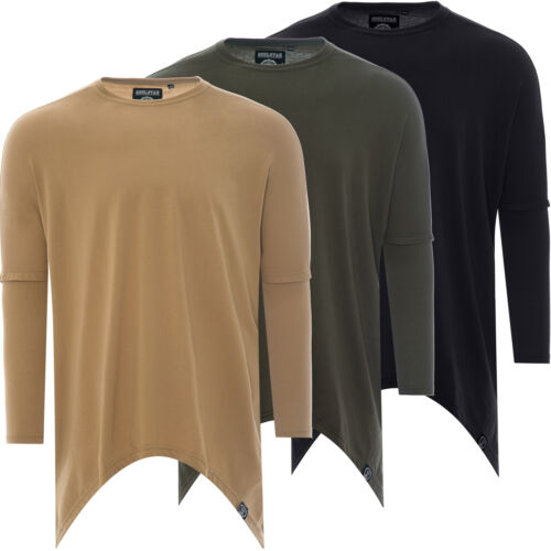 Nueva sudadera para hombre Suéter Jumper Camiseta Manga Larga Camiseta Larga Top Talla