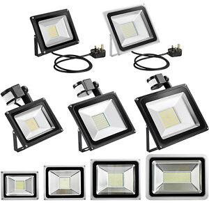 PIR-Motion-Sensor-LED-Floodlight-UK-Plug-10W-20W-30W-50W-Outdoor-Security-Lamp