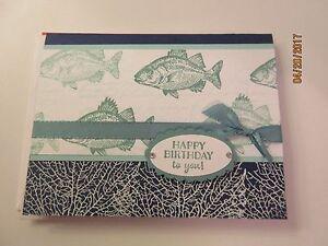 Man / Guy Happy Birthday Handmade Card - Fish - using Stampin' Up products