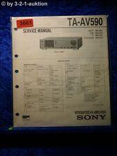 Sony Service Manual TA AV590 Amplifier (#3661)