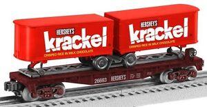 Lionel 6-26693 Hershey's Krackel Ferroutage Wagon Plat Avec Bande-annonce En Box