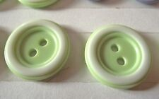 3 BOUTONS  Vert & Blanc  * 23 mm 2,3 cm * 4 trous * Gree Button sewing neuf lot