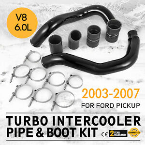2003-2007 Ford 6.0L Powerstroke Turbo Intercooler Pipe and Boot Kit CAC Tubes