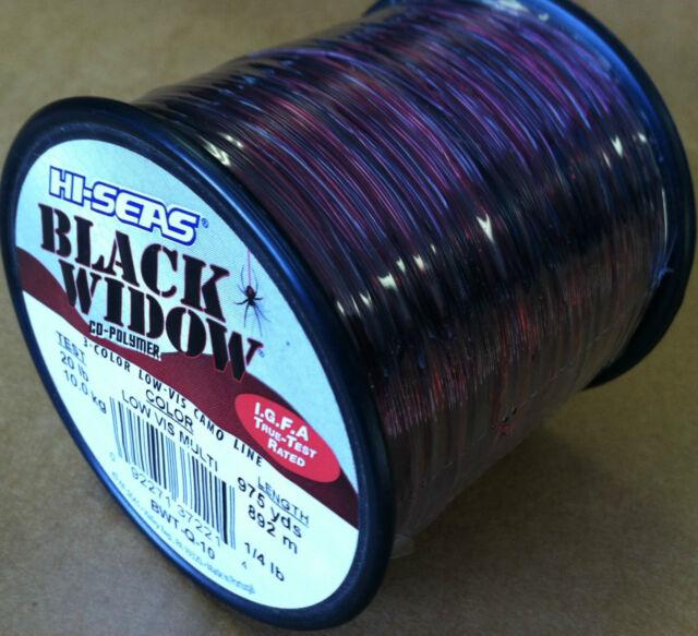 12 Pound Test Hi-Seas Black Widow Co-Polymer Line Camouflage 1,700 Yard