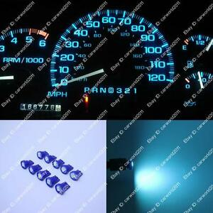 10x Ice Blue T10 194 168 LED Gauge Speed instrument Panel Dashboard Light Bulb A