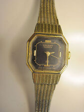 For Parts or Repair Vintage 80s Ladies Orient Quartz Watch, Gold, Made in Japan