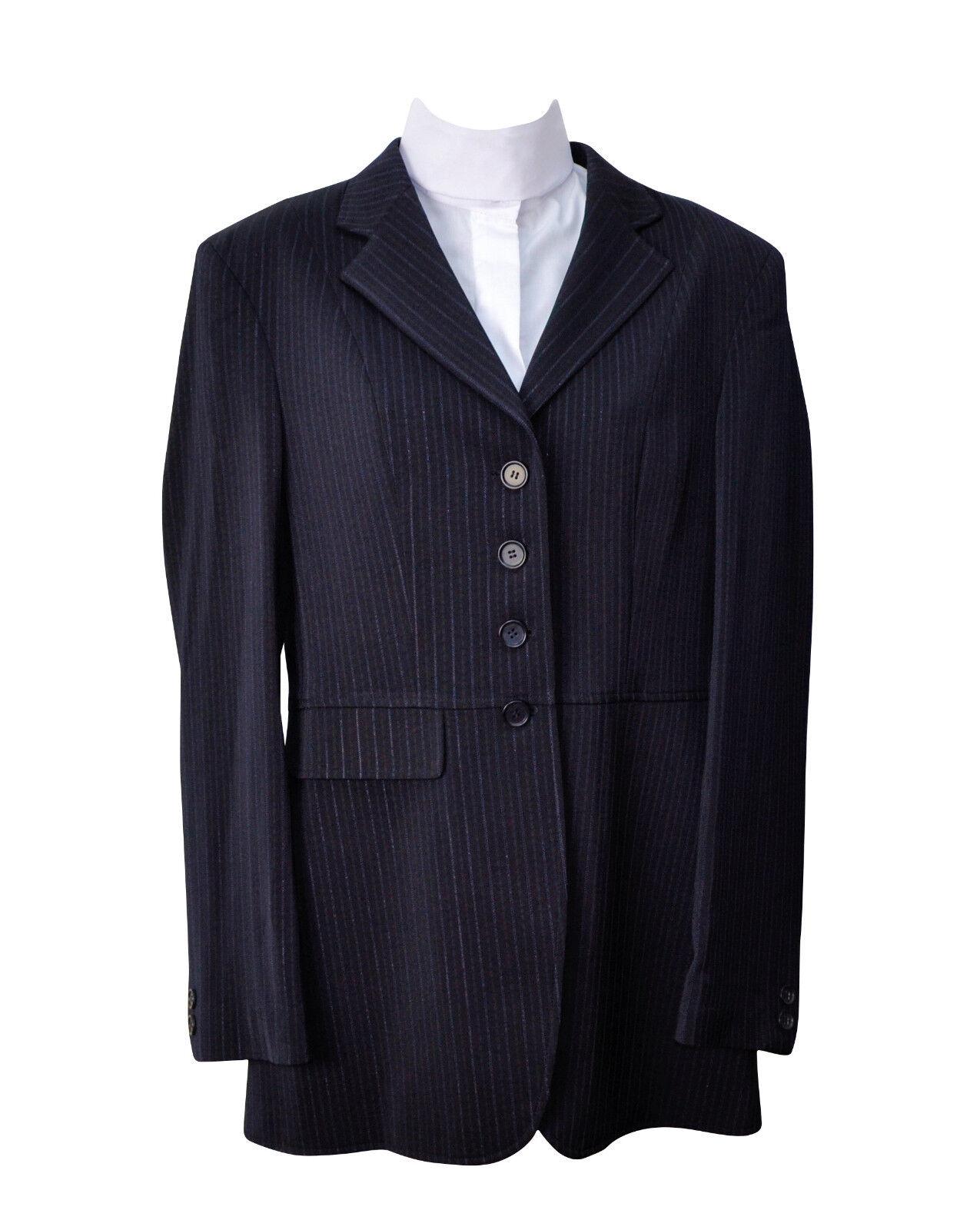 Wellington Femme noir Dressage Équitation Show manteau robe Taille 2