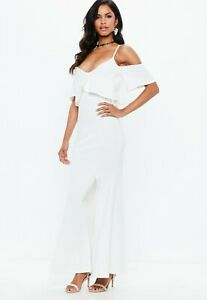 Missguided-strappy-frill-fishtail-maxi-Size-8