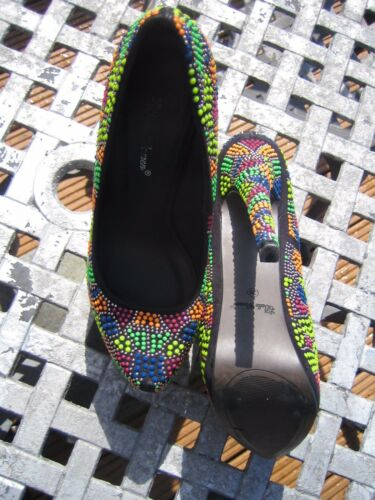 Woman { Belle 38 5 Freepost Size Coloured scarpe High Euro Multi Reduced Heel } Zx8wdR4q