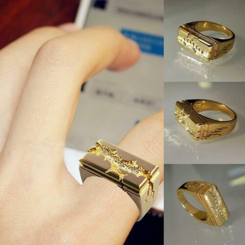 Fashion Beliebte Gold Cake Punk Ring Legierung Top Qualität Persönlichkeit Ring