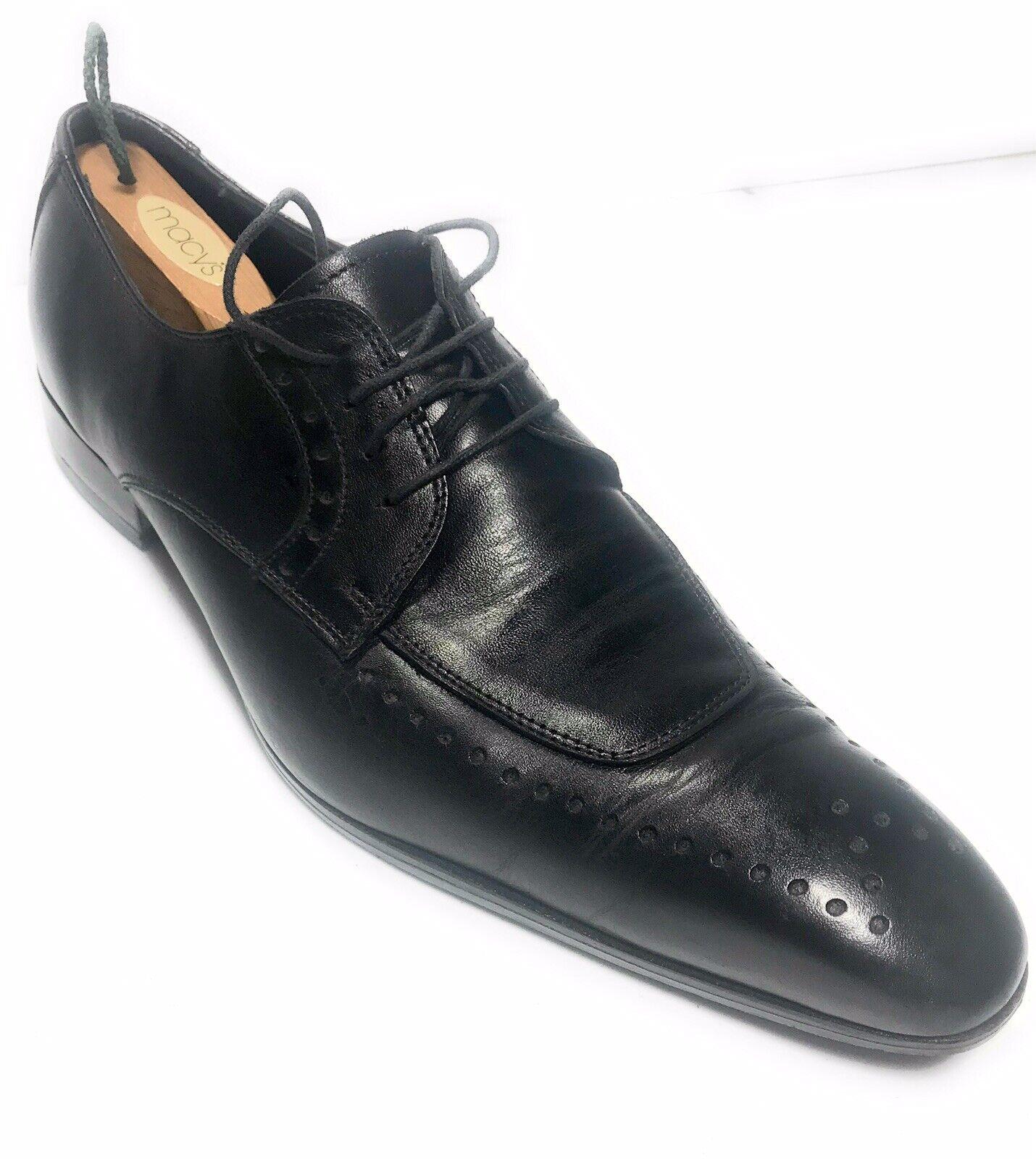 Finsbury homme noir en cuir Consul Oxford Chaussures Chaussure Sz 12