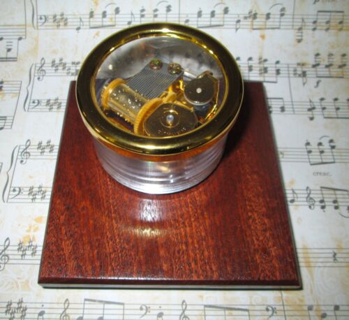 African Red Mahogany Base Clair De Lune Or Your Choice of Song Fine Wood