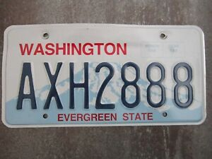 Washington-AXH2888-American-License-Number-Plate-Collecting-Craft-Hobby