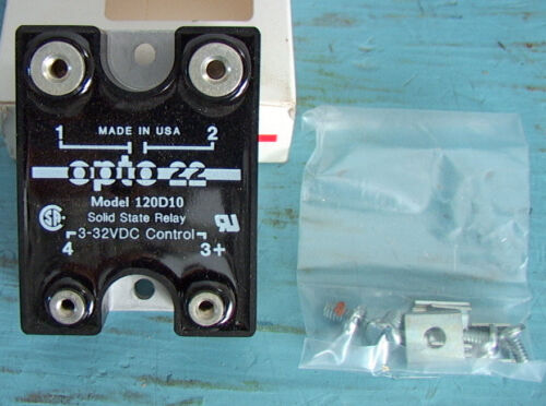 120D10 SSR 3 each  NOS NIB OPTO 22 120v 10amp DC Control Solid State Relay