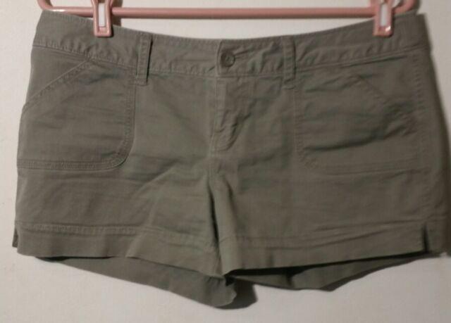 SO Mini Shorts Women Sz 11 Green 4 Pocket Cotton Blend