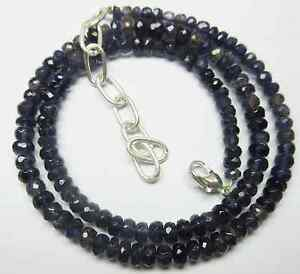 """Natural Iolite Rondelle Faceted Loose Beads 19.5""""Inch NECKLACE 5-7MM 126-CT S72"""