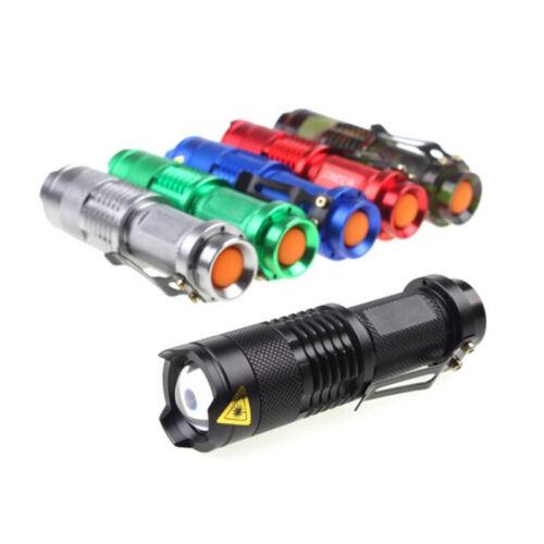 Q5 Mini 5 Colors LED Flashlight Zoomable Torch Pocket Light 3 Modes SRZJA