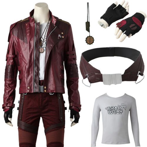Hot Guardians of the Galaxy 2 Peter Jason Quill Star lord Cosplay Costume Outfit