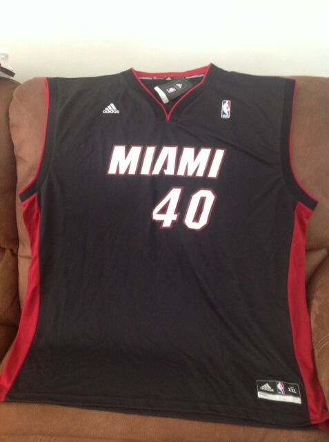 16d9892cf57 Adidas Miami heat udonis haslem  40 basketball jersey NWT size 2XL mens