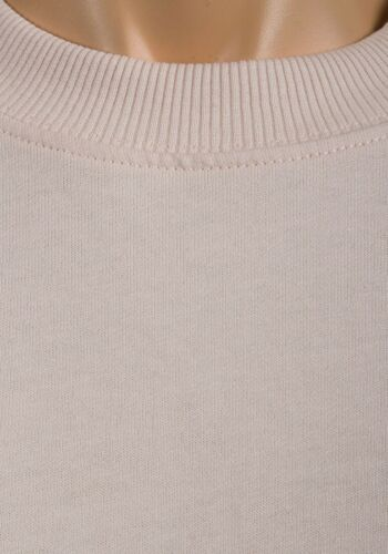 Peach over sized fit sweat shirt ladies winter loungewear top