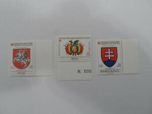 Discount Stamps : MALTA 1999 SOVRANO MALITARY ORDINE 3v MNH STAMPS - LITUANIA