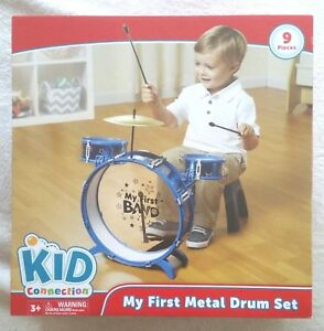 New Kids Connection My First Musical Metal 9 Piece Drum Set Play