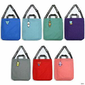 BTS BT21 Official Authentic Goods Lettering Messenger Tote Bag School Bag
