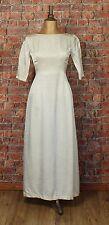 Genuine French Vintage Wedding Dress Gown 50s 60s Retro Classy Elegant UK 8/10