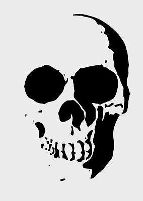 A3***NEW*** A4 A5 Skull /& Flames 190 micron Mylar Stencil durable /& sturdy