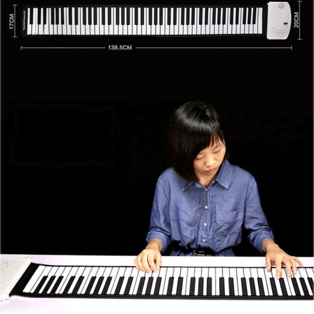 88keys Synthesizer Electronic Silicone Keyboard Hand-rolling Piano Girls Gift