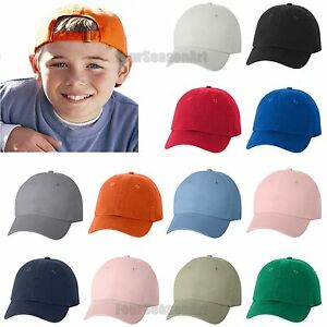 Valucap YOUTH Bio-Washed Unstructured Cap 6-panel adjustable Hat ... b746dec267dc
