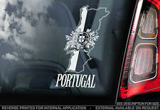Portugal - Car Window Sticker - National Portugese Flag Sign -Olympics, Football
