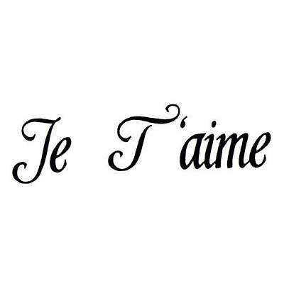 Je T'aime, I love you, French UNMOUNTED rubber stamp #22 | eBay